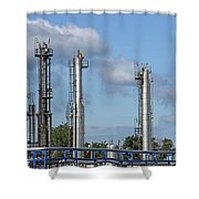 Petrochemical Plant Refinery Industry Zone Shower Curtain