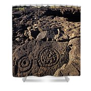 Petroglyphs In Kalahuipuas Historic Shower Curtain