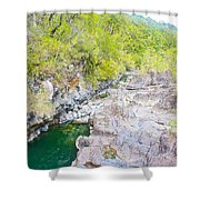 Petrohue River In Vicente Perez Rosales National Park Near Puerto Montt-chile Shower Curtain