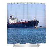 Petroleum Tanker En Route Shower Curtain