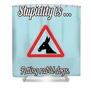 Petting Bigstock Donkey 171252860 Shower Curtain