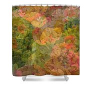 Petunias And Lantana Collage Shower Curtain