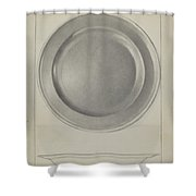 Pewter Plate Shower Curtain