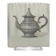 Pewter Teapot Shower Curtain