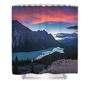 Peyto Lake At Dusk Shower Curtain