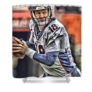Peyton Manning Art 1 Shower Curtain