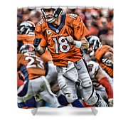 Peyton Manning Art 2 Shower Curtain