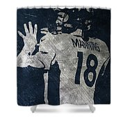 Peyton Manning Broncos 2 Shower Curtain