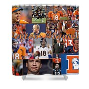Peyton Manning Color Shower Curtain