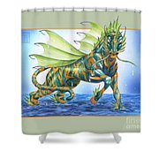 Phantasmal Mount Shower Curtain
