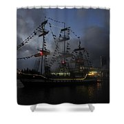 Phantom Ship Shower Curtain