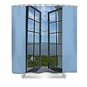 Phare Fenetre Lighthouse Window Shower Curtain
