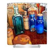 Pharmacist - Medicine Cabinet  Shower Curtain by Mike Savad