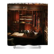 Pharmacist - The Pharmacists Desk Shower Curtain