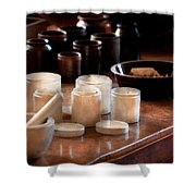 Pharmacist - Pestle And Cups Shower Curtain
