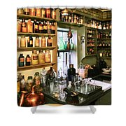 Pharmacist - Pharmacists Drugs Shower Curtain by Mike Savad