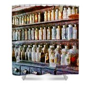 Pharmacy - Pick And Elixir Shower Curtain
