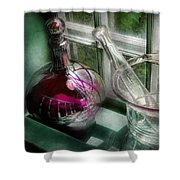 Pharmacy - The Apothecary Is Open  Shower Curtain