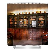 Pharmacy - The Apothecary Shop Shower Curtain