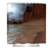 Pharos Shower Curtain by Corey Ford