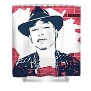 Pharrell Graffiti Tribute Shower Curtain