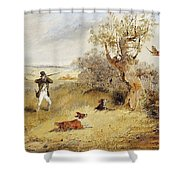 Pheasant Shooting Henry Thomas Alken Shower Curtain