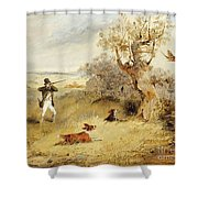 Pheasant Shooting Shower Curtain