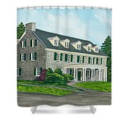 Phi Gamma Delta Shower Curtain by Charlotte Blanchard