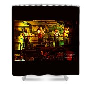 Phil Collins-horns-0906 Shower Curtain