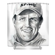 Phil Michelson  Shower Curtain