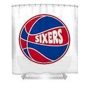 Philadelphia 76ers Retro Shirt Shower Curtain