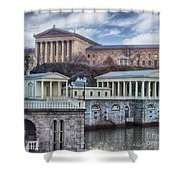 Philadelphia Art Museum At The Water Works  Shower Curtain