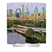 Philadelphia At Dusk Shower Curtain