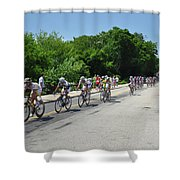 Philadelphia Bike Race - Manayunk Avenue Shower Curtain