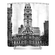 Philadelphia City Hall Building On Broad Street Shower Curtain