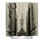 Philadelphia City Hall From South Broad Street Shower Curtain