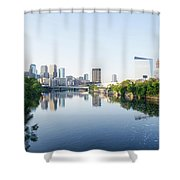 Philadelphia Cityscape Along The Schuylkill River Shower Curtain