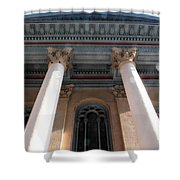 Philadelphia Classical Pillars - Looking Up Shower Curtain
