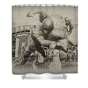 Philadelphia Eagles At The Linc Shower Curtain by Bill Cannon