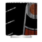 Philadelphia Flyers Wood Fence Shower Curtain