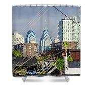 Philadelphia From Penns Landing Shower Curtain