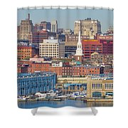 Philadelphia - From The Ben Franklin Bridge Shower Curtain