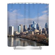 Philadelphia From The South Street Bridge Shower Curtain by Bill Cannon