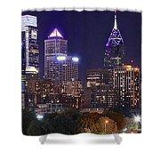 Philadelphia Full Moon Panorama Shower Curtain