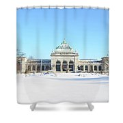 Philadelphia - Memorail Hall In Winter Shower Curtain