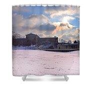 Philadelphia Museum Of Art At Winter Sunrise Shower Curtain