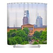 Philadelphia Museum Of Art From Lemon Hill Shower Curtain