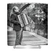 Philadelphia Music Man Bnw Shower Curtain