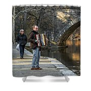 Philadelphia Music Man Shower Curtain