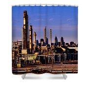 Philadelphia Oil Refinery  Shower Curtain